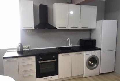 Кухня в апартаментах Люкс двухкомнатный