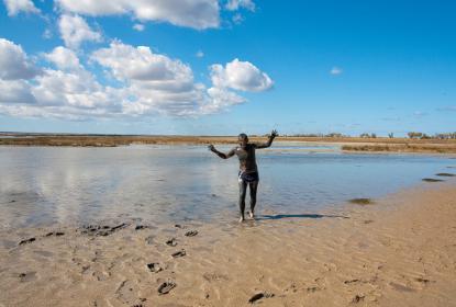 Лечебные грязи в районе озера Донузлав