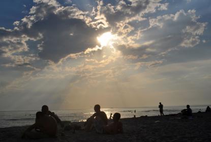 Пляж в районе Поповки